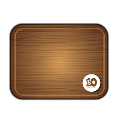 Rectangle chopoping board vector
