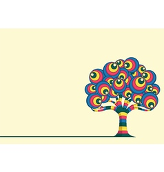 Retro Tree vector image