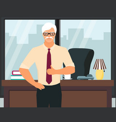 senior successful businessman flat vector image