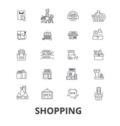 shopping bag mall cart sale fashion online vector image