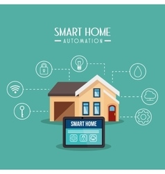 Smart home technology icon vector