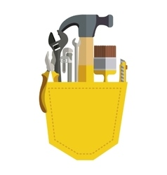 Toolkit inside of pocket pant vector