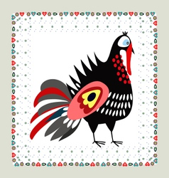 Turkey Embroidery vector image