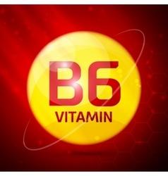 Vitamin B6 icon vector image