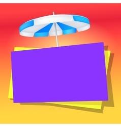 Summer bright banner with umbrella vector