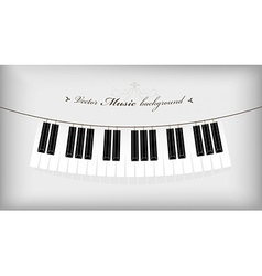 Hanging piano keyboard with place for your text vector