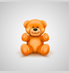 Teddy bear on a white background vector