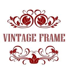 Pretty floral vintage frame vector