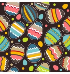 Seamless easter pattern with eggs vector
