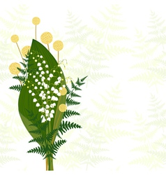Springtime White Lily of The Valley vector image