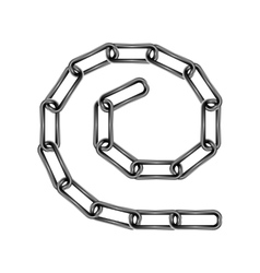 Chain links in spiral vector