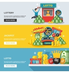 Lottery banner set vector