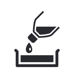 pour icon vector image