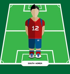 Computer game south korea soccer club player vector