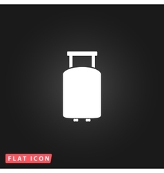 Travel suitcase flat icon vector