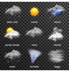 Realistic weather transparent vector