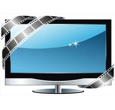 TV flat screen lcd vector image