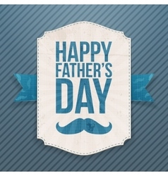 Happy fathers day paper banner with ribbon vector