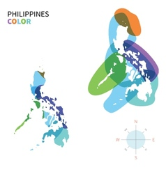 Abstract color map of Philippines vector image
