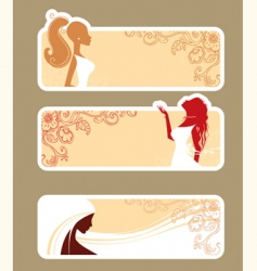 Banners girls vector