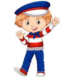 boy in netherlands flag color costume vector image