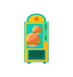 Burger vending machine design vector
