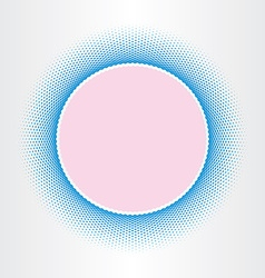 circle abstract background squares halftones vector image vector image