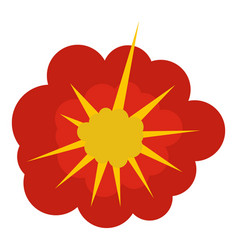 Cloudy explosion icon isolated vector