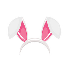 Easter bunny ears mask vector