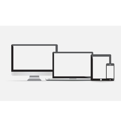 Electronic devices with blank screens vector image vector image