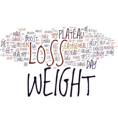 Enhance weight loss and overcome your plateau vector