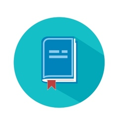 Front view of blank book vector image vector image