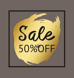 Gold brush stroke for sale background for print vector