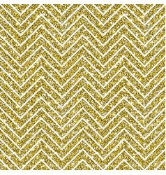 gold glitter chevron pattern background vector image
