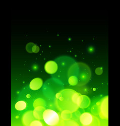 Green abstract bokeh effect background vector image
