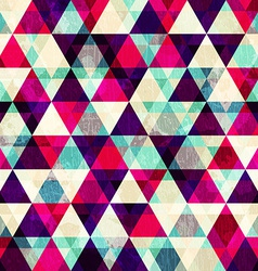 grunge red triangle seamless pattern vector image vector image