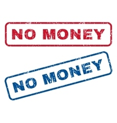 No money rubber stamps vector
