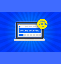 Online shopping website sale icon vector