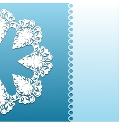 Paper pattern with lace ornament vector image vector image