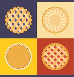 Pie icon set vector