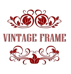 Pretty floral Vintage Frame vector image vector image