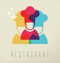 Restaurant chef icon concept color design vector image