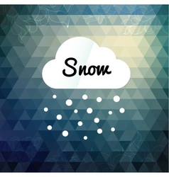 Retro styled winter cloud design card vector