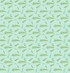 Seamless leaf pattern set vector image vector image