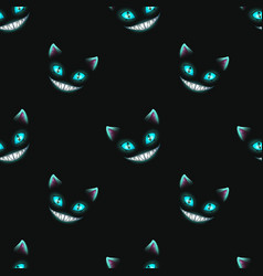 Seamless pattern with disappearing cat faces vector