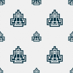 skyscraper icon sign Seamless pattern with vector image vector image