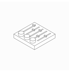Sound mixer console icon isometric 3d style vector