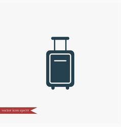 Suitcase icon simple vector