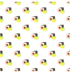 Sushi pattern cartoon style vector image vector image