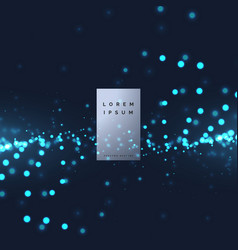 Technology particle background vector